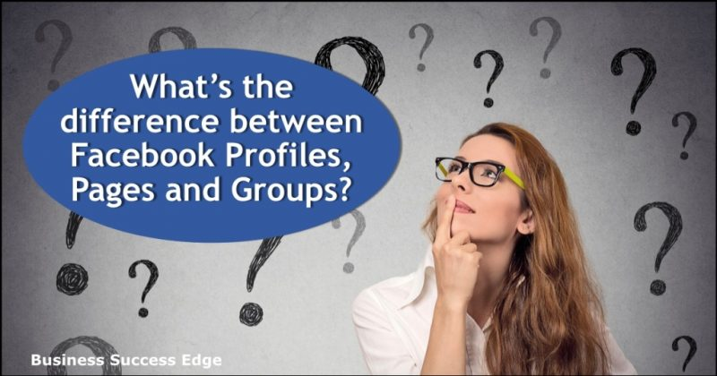 Difference Between Facebook Profiles, Pages and Groups
