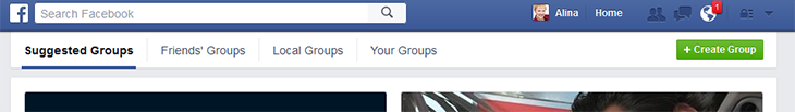 Find the right Facebook group to join by looking at the suggested groups