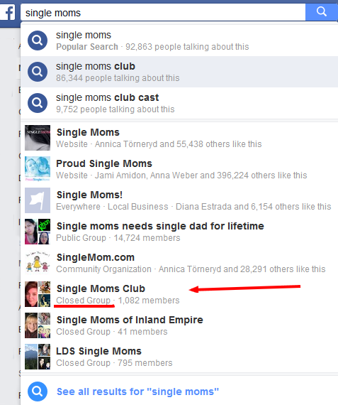 Find the right Facebook group to join