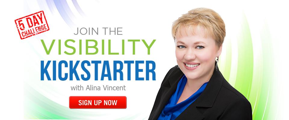 Visibility Kickstarter 5-Day Challenge website banner